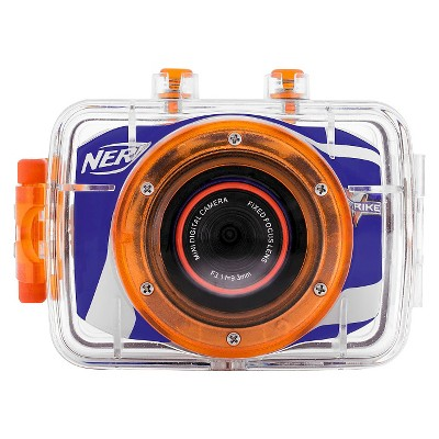 NERF® 5MP Action Flash Memory Digital Camcorder with 4X Digital Zoom - Multicolored