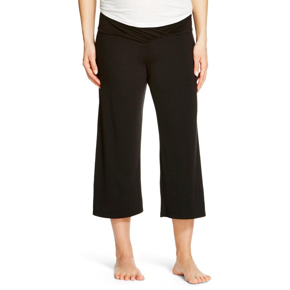 Eve Alexander Womens Gaucho Pants Black S