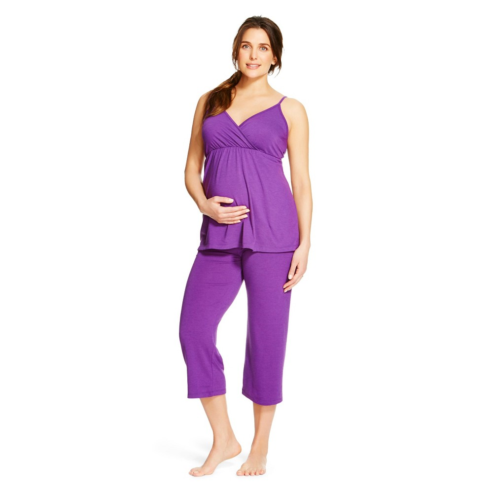 Eve Alexander Womens Maternity PJ Set XL Purple