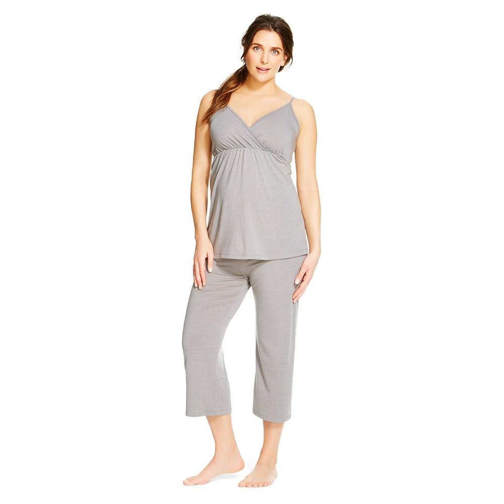 Eve Alexander Women's Maternity PJ Set S Grey