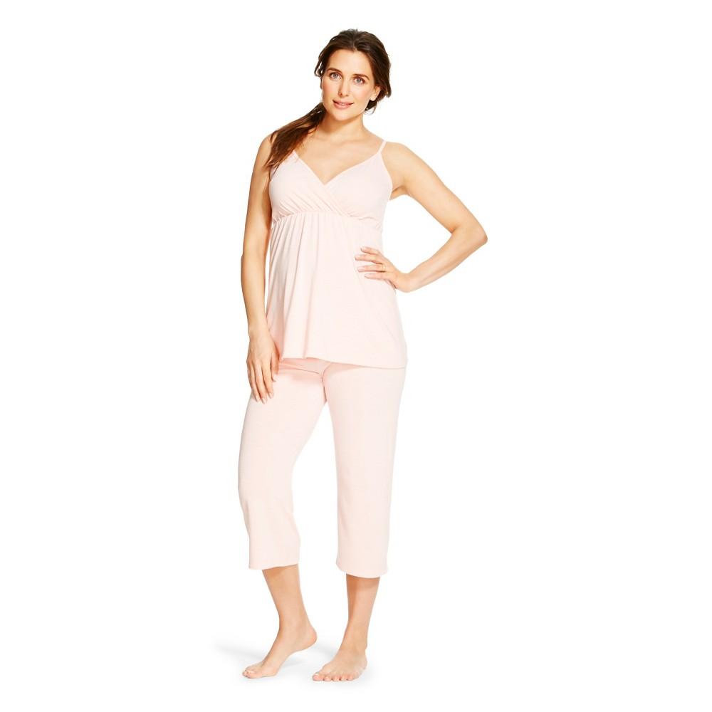 Eve Alexander Womens Maternity PJ Set XL Blush Peach