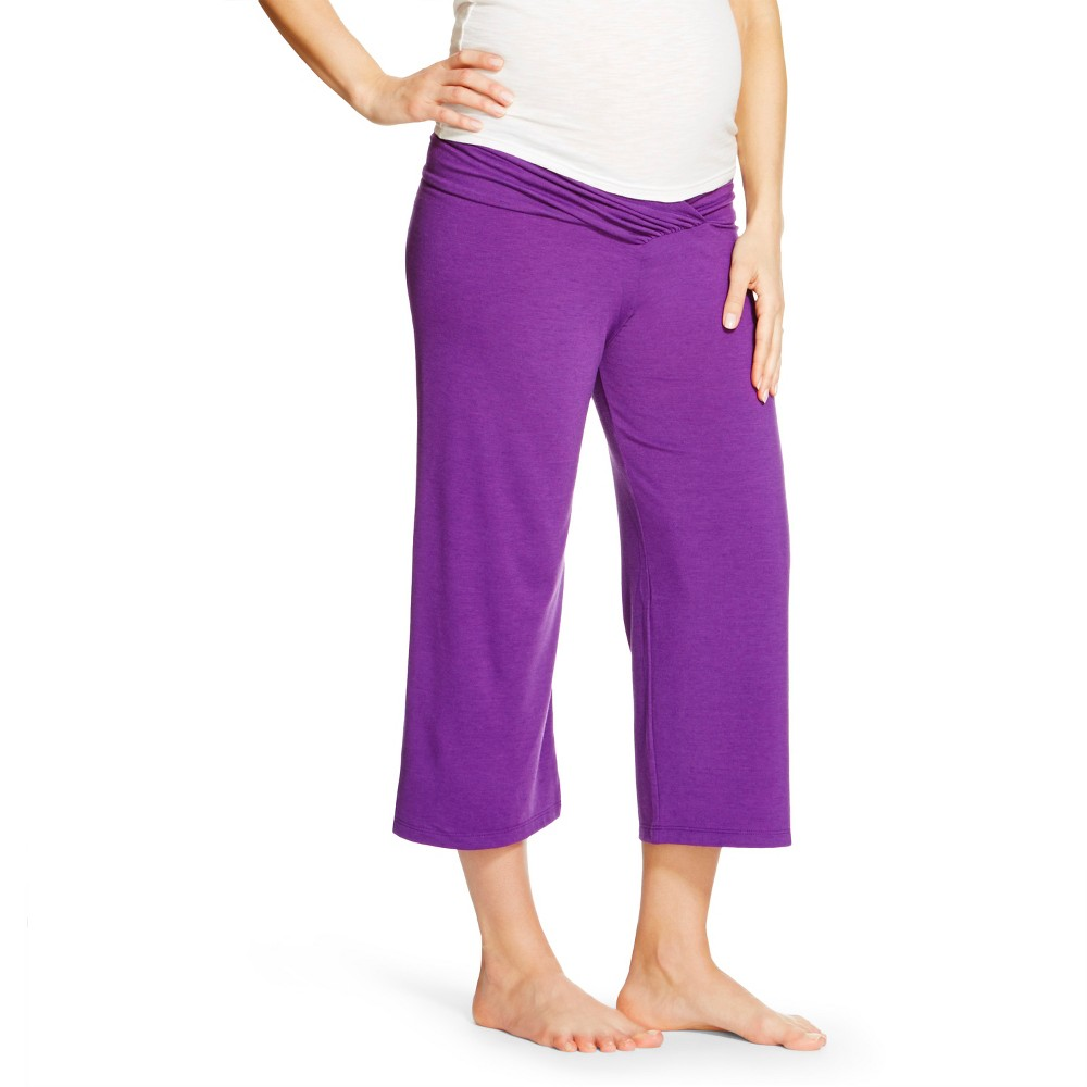 Eve Alexander Womens Gaucho Pants Purple S