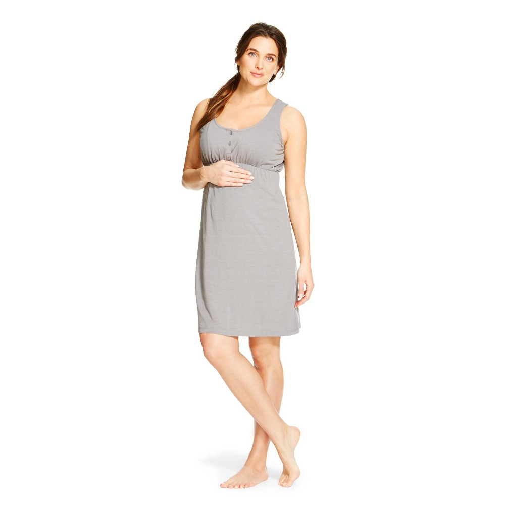 Eve Alexander Maternity Empire Waist Nightgown M Gray,  Women's plus size,  plus size fashion plus size appare