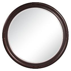 Round George Decorative Wall Mirror Brown - Howard Elliott