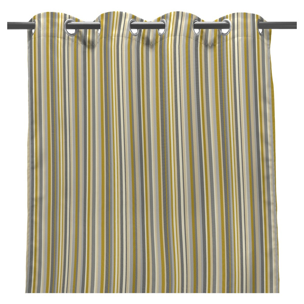 """Jordan 50"""""""" x 108"""""""" Outdoor Curtain Panel - Beige Nude, Beige Nude/Grey"""