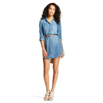 Merona Womens Tencel Shirt Dress