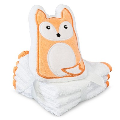 Baby Washcloth Set - Orange One Size- Circo™