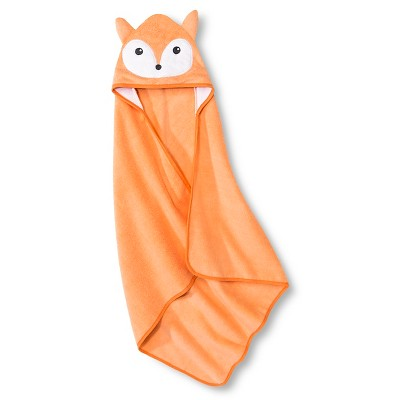 Baby Hooded Bath Towel - Orange One Size- Circo™