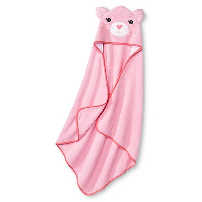 Newborn Girls' Hooded Bath Towel Pink - Circo™