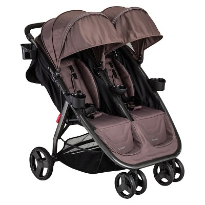 Combi Fold 'N Go Double Stroller - Caribou