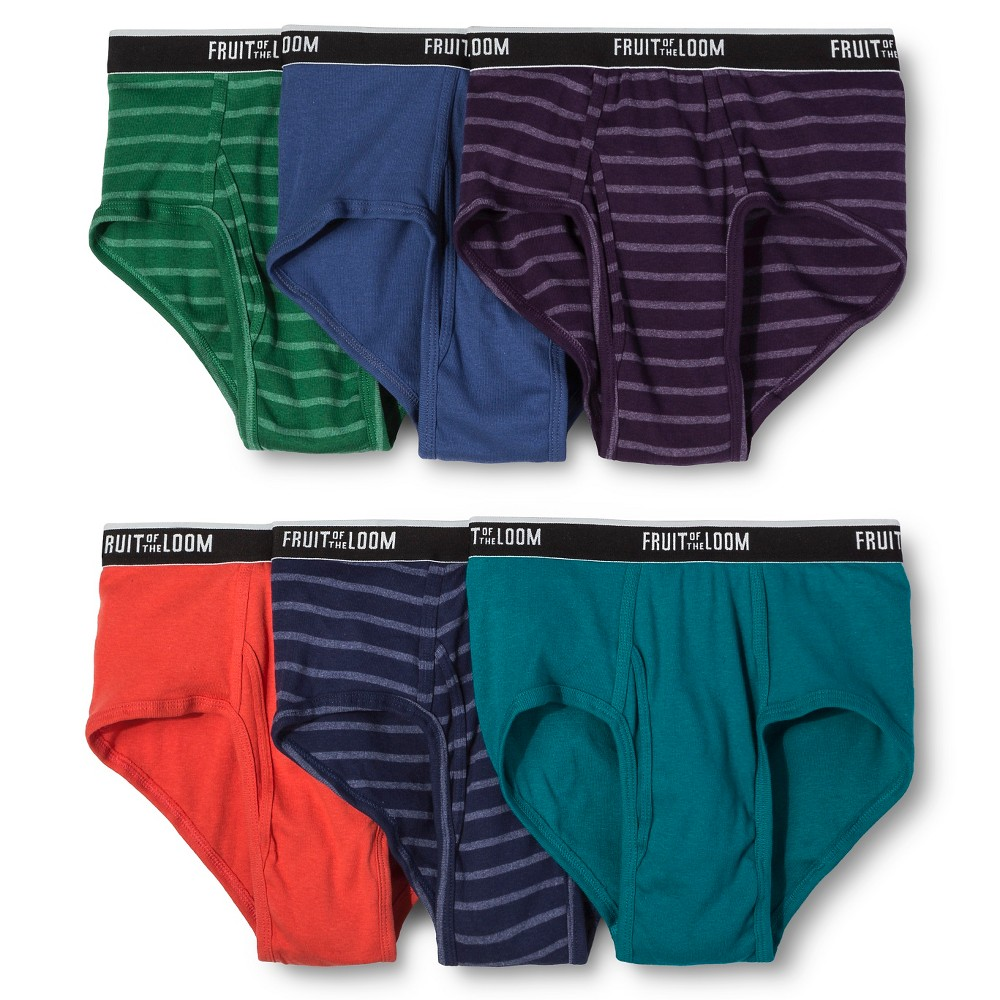 Fruit of the Loom Select Mens Classic Briefs MultiColored XL