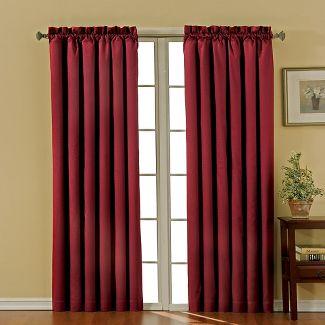 "63""x42"" Canova Room Darkening Window Curtain Panel Burgundy - Eclipse"