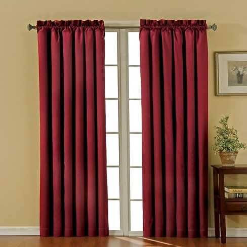 "Eclipse Thermaback Canova Blackout Curtain Panel - Burgundy (42""x95"") - image 1 of 3"