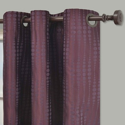 'Eclipse Thermaback Captree Blackout Grommet Curtain Panel - Plum (Purple) (42''x95'')'