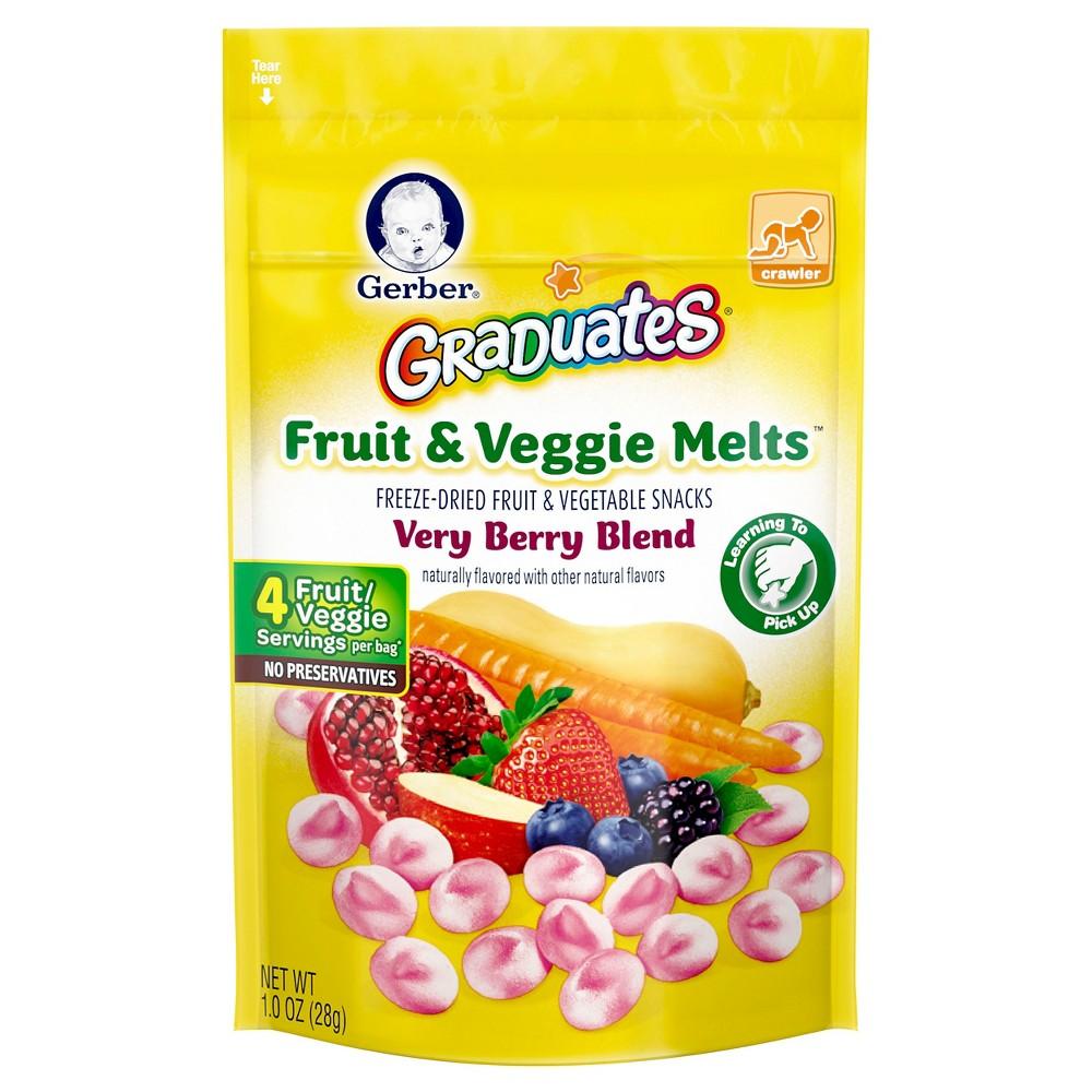 Gerber Fruit & Veggie Melts, Very Berry Blend - 1oz (3pk)