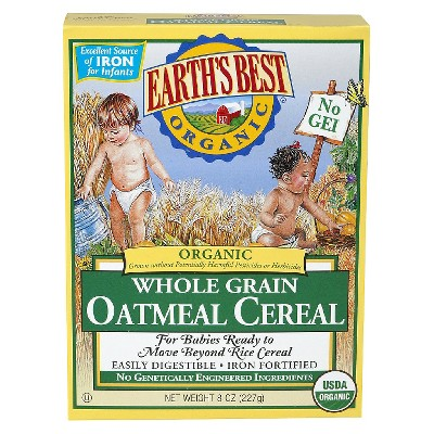 Earth's Best Organic Whole Grain Oatmeal Cereal - 8oz (3 pk)