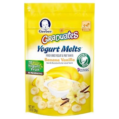Gerber Yogurt Melts Banana Vanilla - 1oz (3pk)
