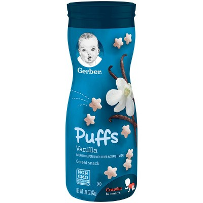 Gerber Puffs Cereal Snack, Vanilla - 1.48oz (3 Pack