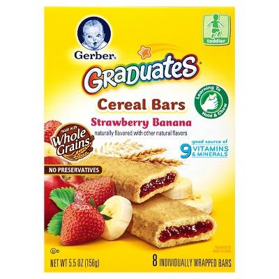 Gerber Graduates Cereal Bars Strawberry Banana 5.5oz (2 Pack)