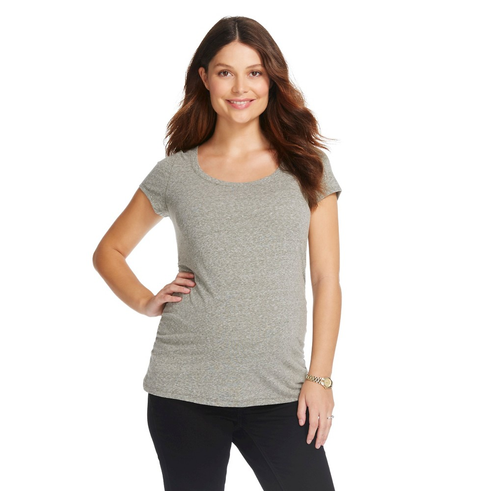 Maternity Textured Scoop Neck Short Sleeve Tee - Wreath Green M - Liz Lange for Target,  Women's plus size,  plus size fashion plus size appare