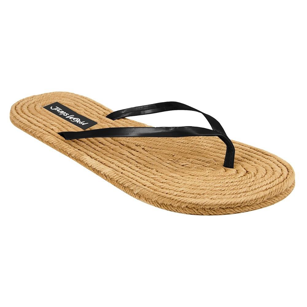 Womens Jams World Flip Flop Sandals - Black 6
