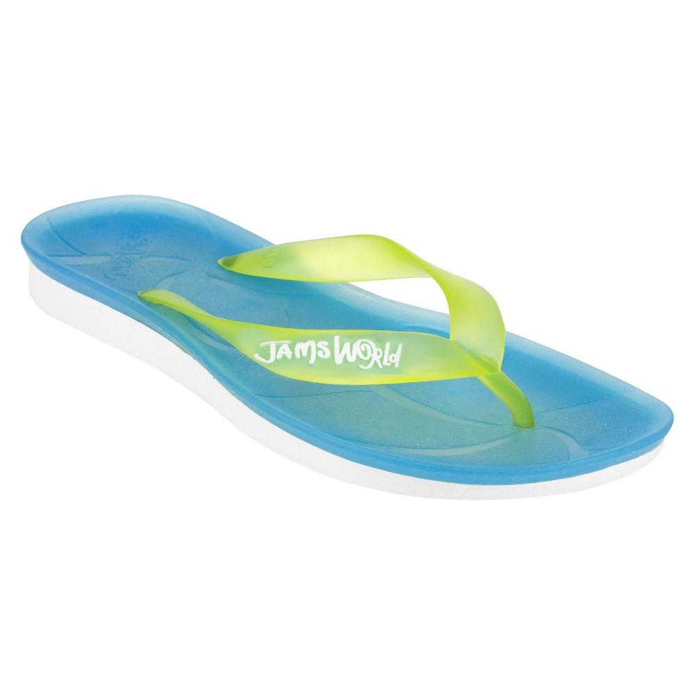 Womens Jams World Sport Flip Flop Sandals - Blue 10