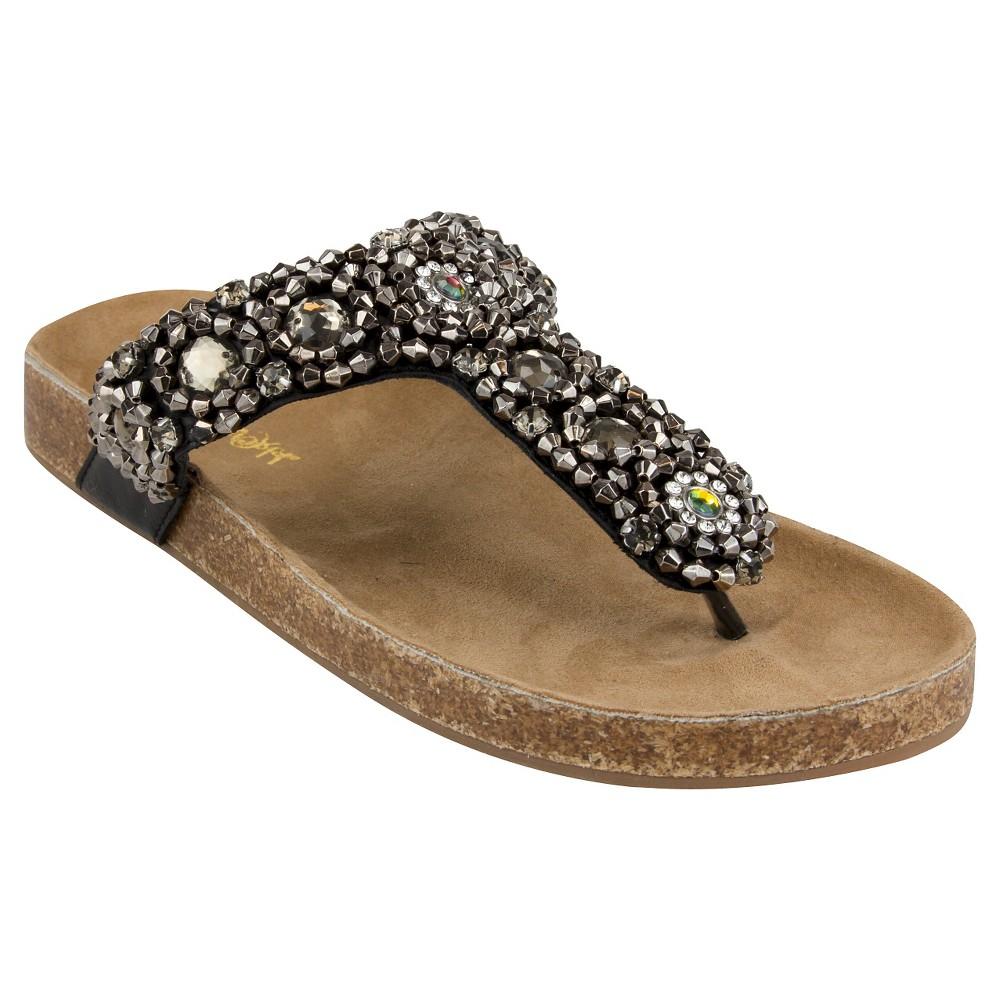 Womens Jams World Oro Flip Flop Sandals - Black 7