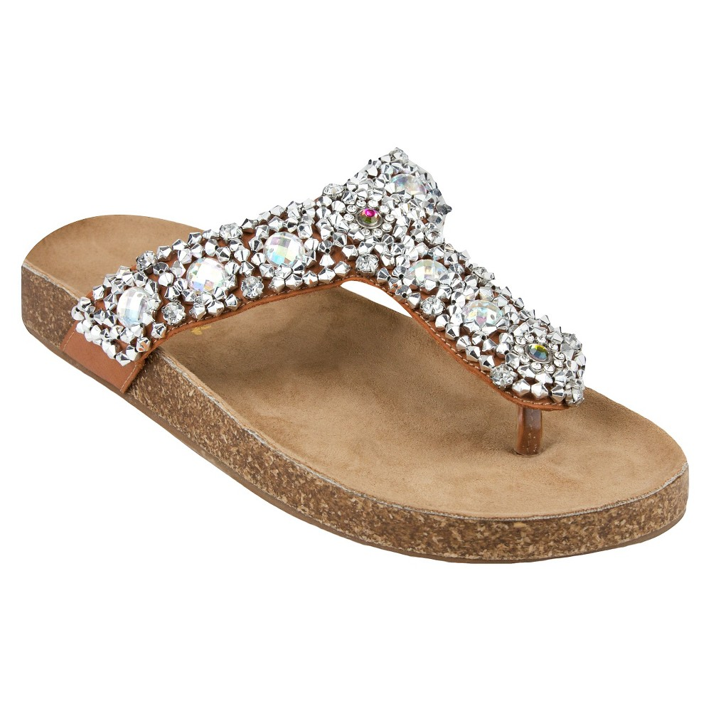 Womens Jams World Oro Flip Flop Sandals - Brown 7