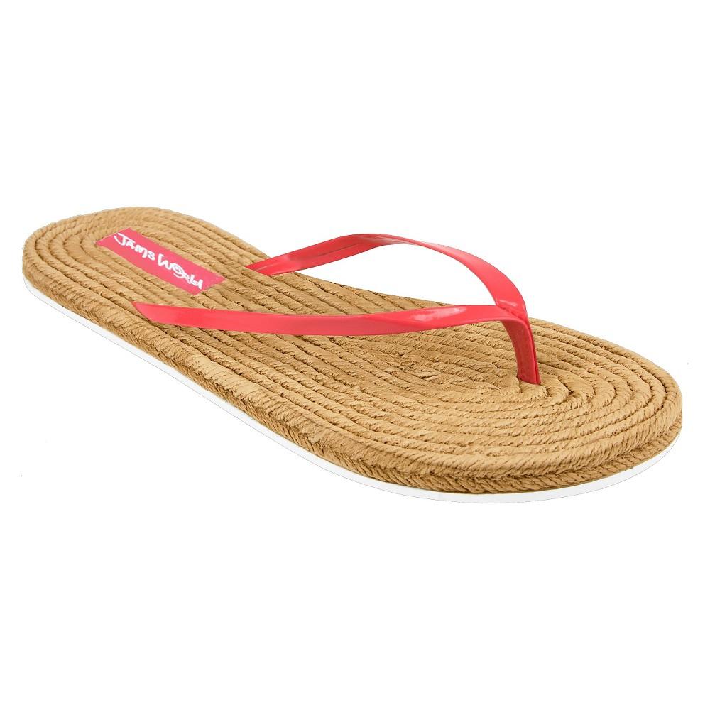 Womens Jams World Flip Flop Sandals - Coral (Pink) 8