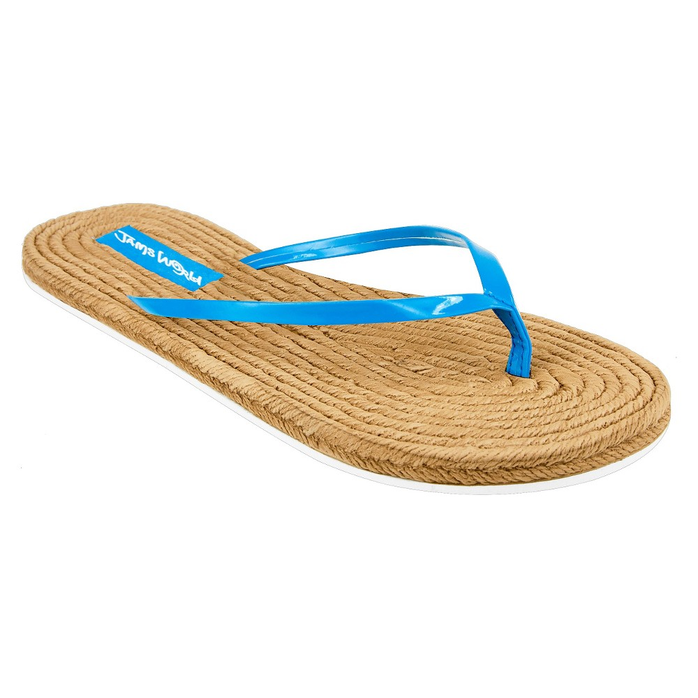 Womens Jams World Flip Flop Sandals - Turquoise 6