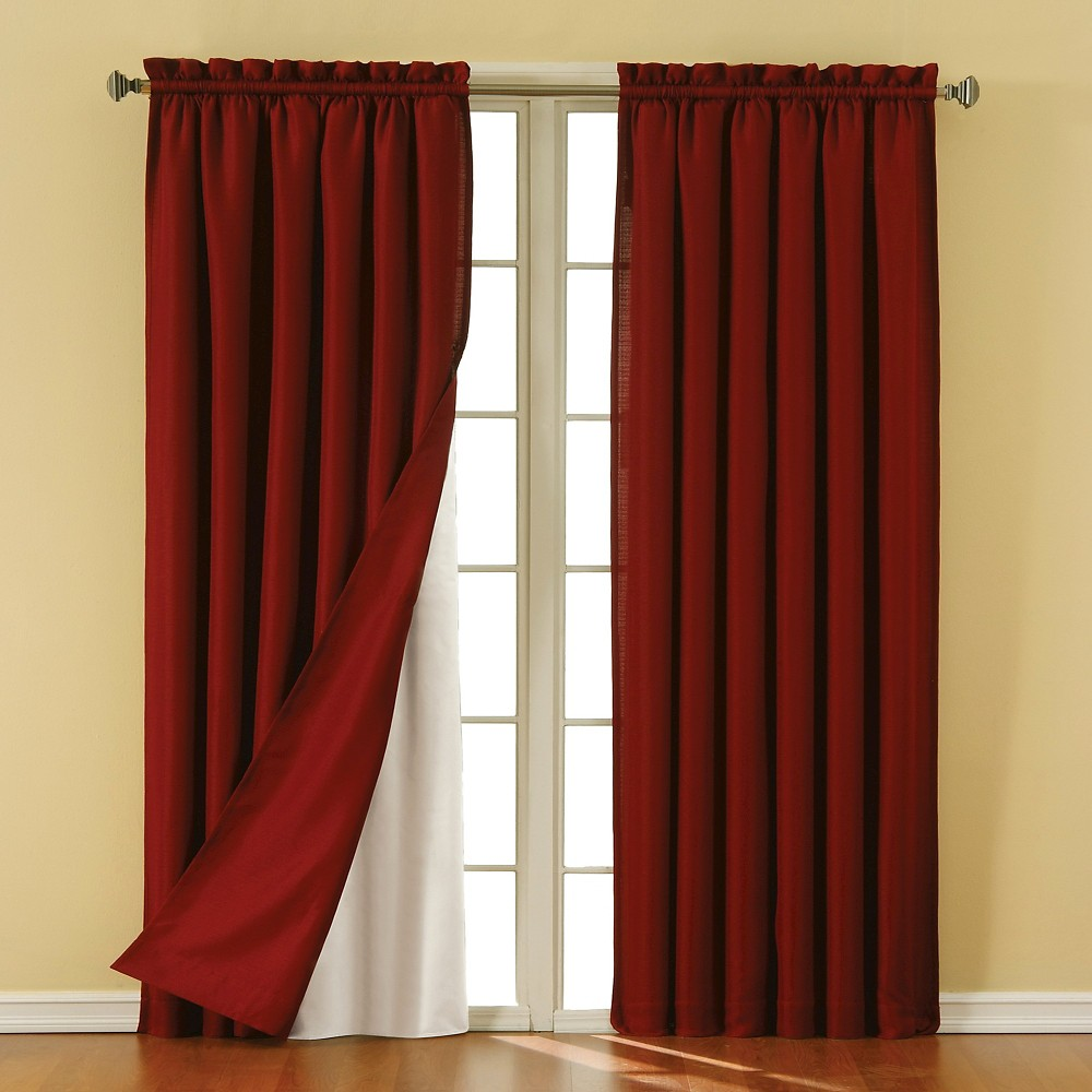 "Eclipse Thermaliner Blackout Thermaliner Curtain Panel Pair - White (54""x92"")"
