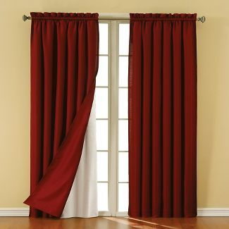 Eclipse Thermaliner Blackout Curtain Panel Pair White 54 X92