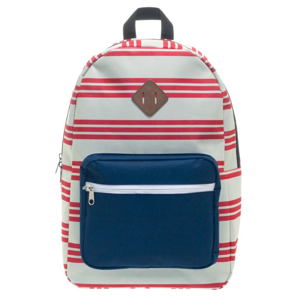 Americana Block Unisex Backpack - Stripe/Navy (Blue)