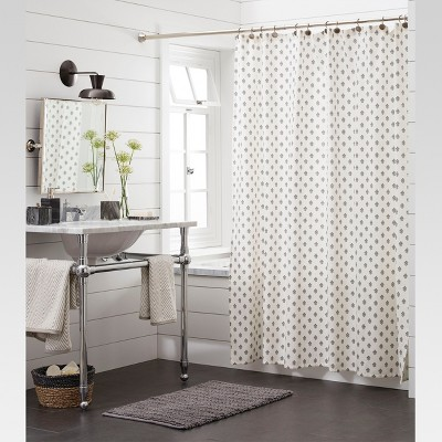floral shower curtain threshold