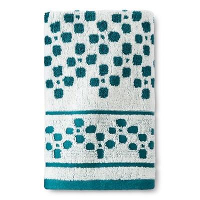 Chevron Hand Towel Cream/Teal - Threshold™