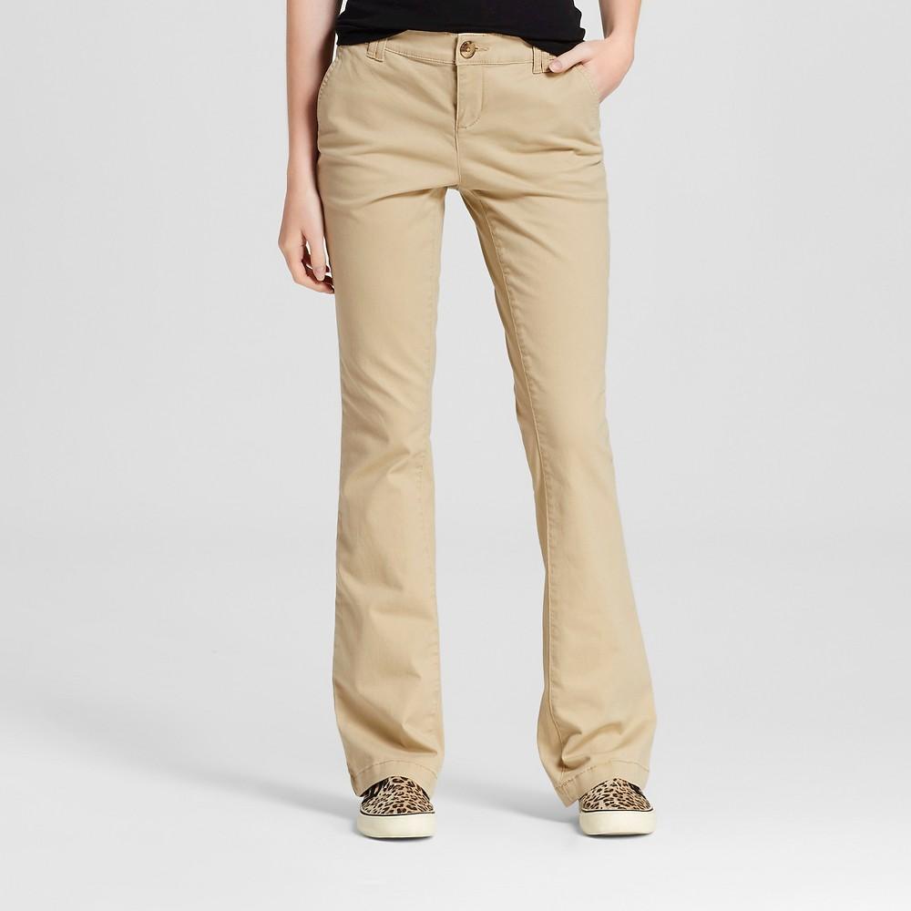 Womens Bootcut Chino Pants - Mossimo Supply Co. Brown 14, Tan