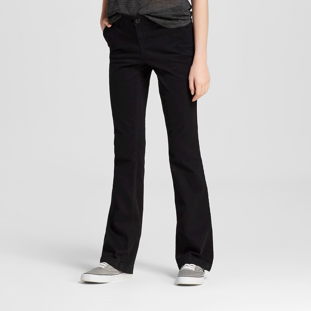 Womens Bootcut Chino Pants - Mossimo Supply Co. Black 8