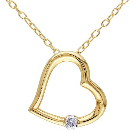0 06 CT T W Diamond Heart Pendant Necklace in Rhodium Plated Sterling Silver GH I2 I3 Tar