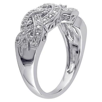 Allura 1/8 CT. T.W. Diamond Ring in Sterling Silver (I3) (9), Women's, White