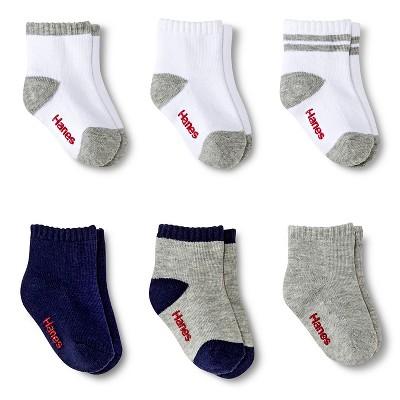 Toddler Boys' 6-Pack Ankle Socks - 4T