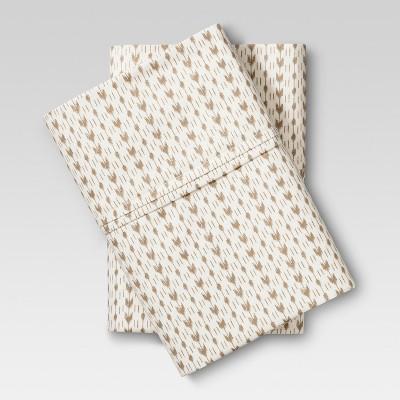 Performance Printed Pillowcase (King)Neutral Arrow 400 Thread Count - Threshold™