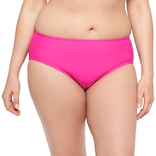 Women's Plus Size Hipster Swim Bottom Magenta (Pink) 18W - VM