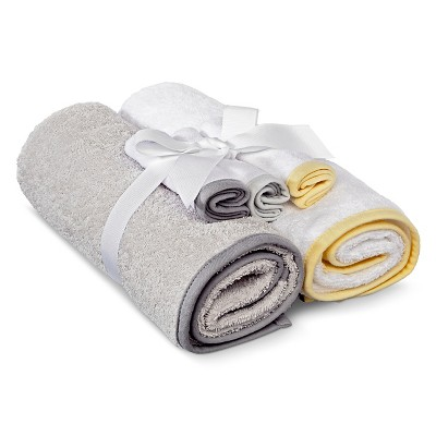 Newborn 5-Piece Bath Towel Set - Gray Circo™