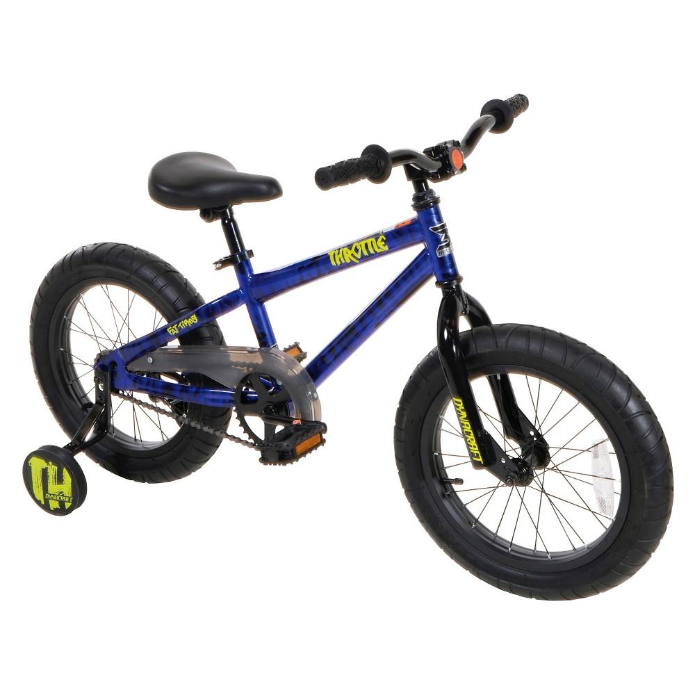 Magna Dynacraft Throttle Fat Tire Bike - 16, Multi-Colored