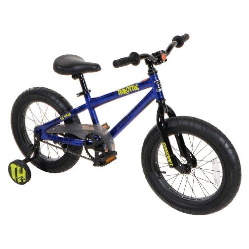 Dynacraft Throttle Fat Tire Bike - 16', Multi-Colored