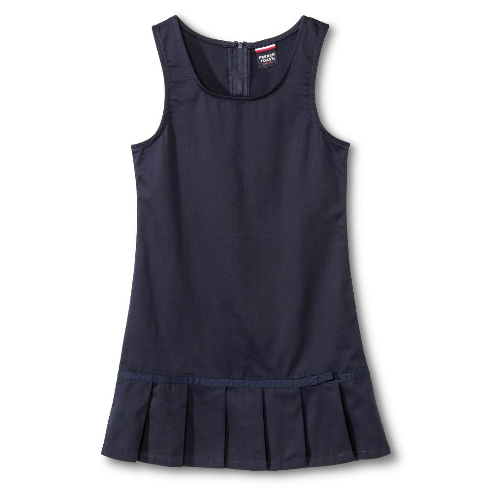 French Toast Girls Pleated Hem Jumper - Navy (Blue) 12