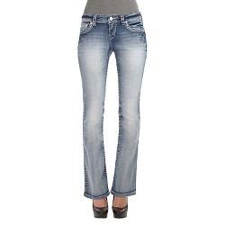 Women's Low Rise Bootcut Jeans (Curvy) - Wallflower