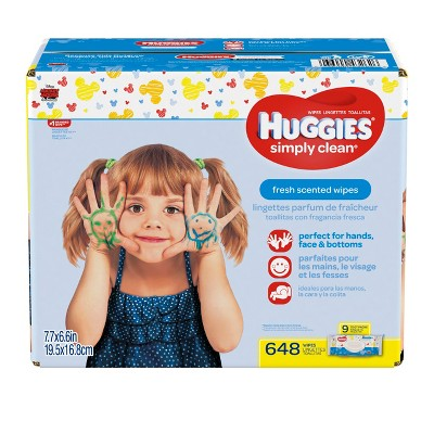 Huggies® Simply Clean® Fresh Baby Wipes, Soft Pack - 648 ct