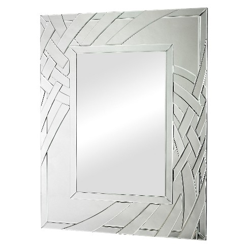 Rectangle Arched Ribbon Decorative Wall Mirror - Lazy Susan - image 1 of 1