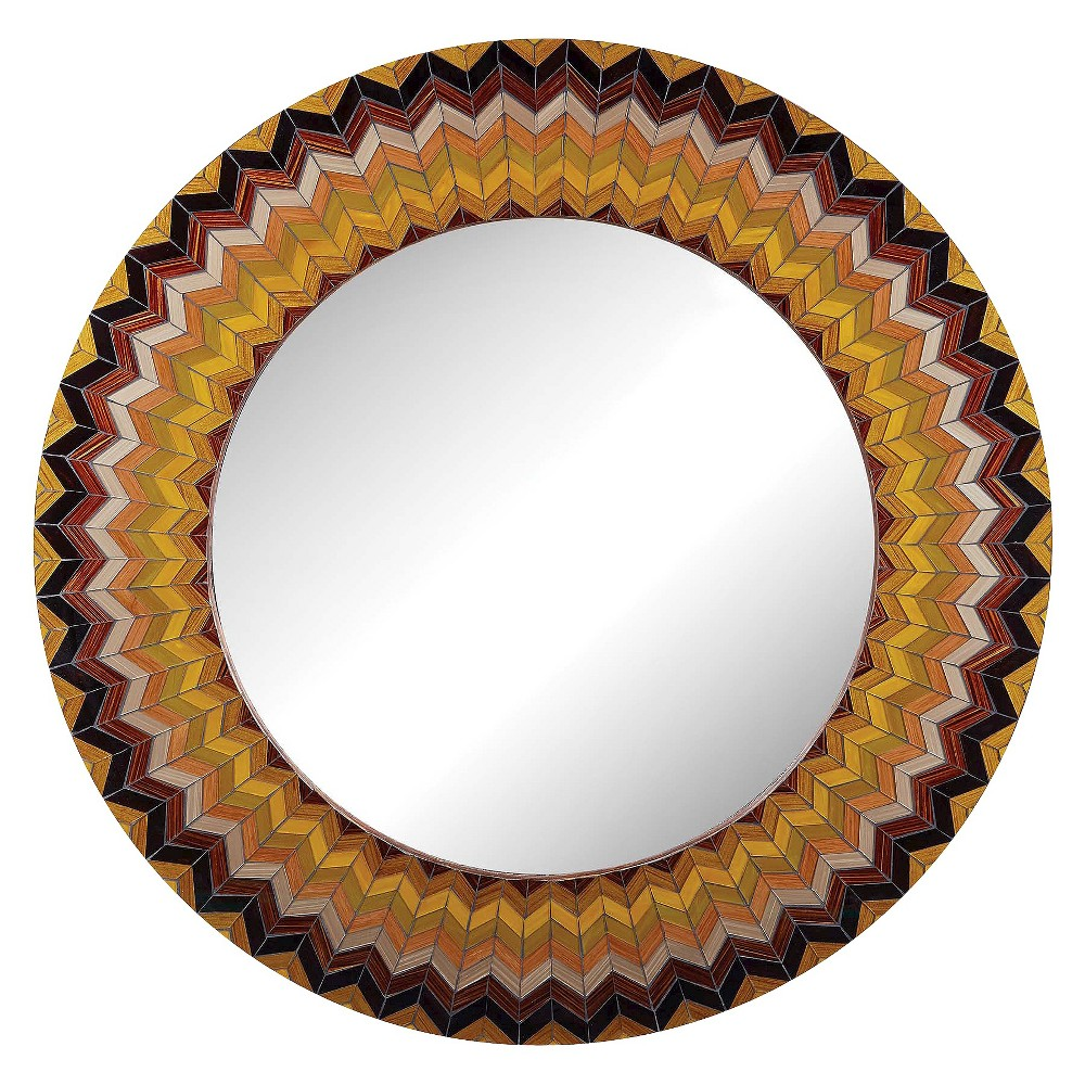 Round Decorative Wall Mirror - Lazy Susan, Multi-Colored